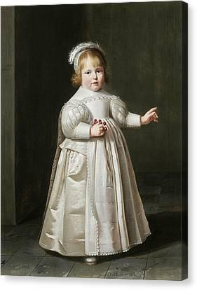 Full Skirt Canvas Print - Portrait Of Willem Van Der Muelen, Age by Johan Cornelisz van Loenen
