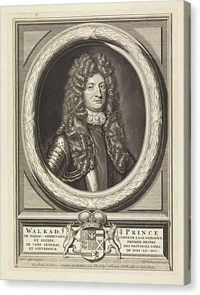 Portrait Of Wolrat Of Nassau-usingen, Jacob Gole Canvas Print by Jacob Gole