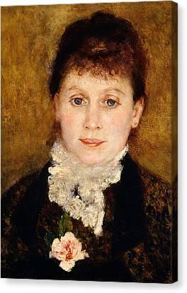Portrait Of Woman Canvas Print by Pierre-Auguste Renoir