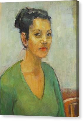 Portrait Painting Today. Canvas Print