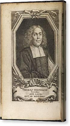 Portrait Plate Of Thomas Cornelius Canvas Print