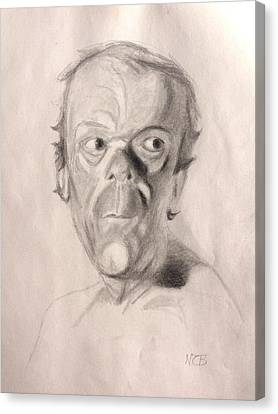 Portrait Study 3 Canvas Print by Nicolas Bouteneff