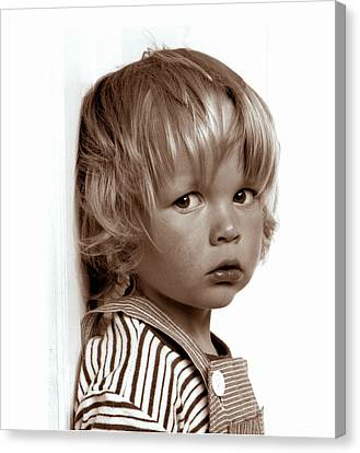 Portrait Young Boy   Canvas Print by Viggo Mortensen