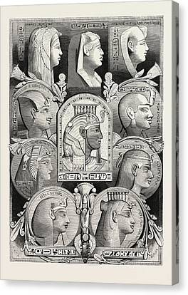 Portraits From Likenesses Of The Time Of The Pharaohs Canvas Print by Litz Collection
