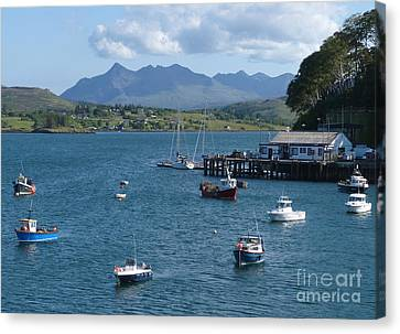 Portree Harbour - Isle Of Skye Canvas Print
