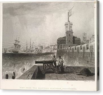 Portsmouth Canvas Print by British Library