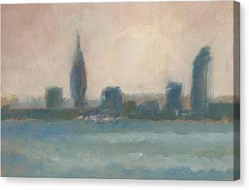 Portsmouth Dawn Part Four Canvas Print by Alan Daysh