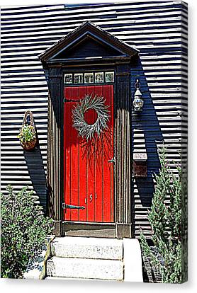 Portsmouth Door 2 Canvas Print by Kevin Fortier