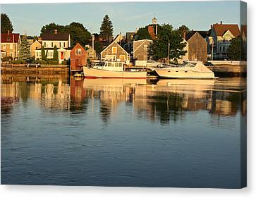 Portsmouth Harbor Nh Canvas Print by Gail Maloney