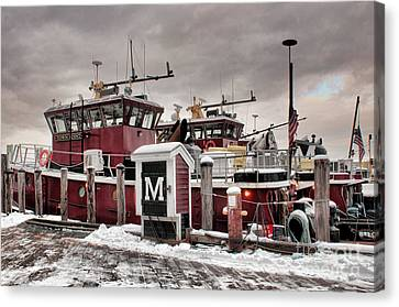 Portsmouth Tugboats Canvas Print by Sharon Seaward