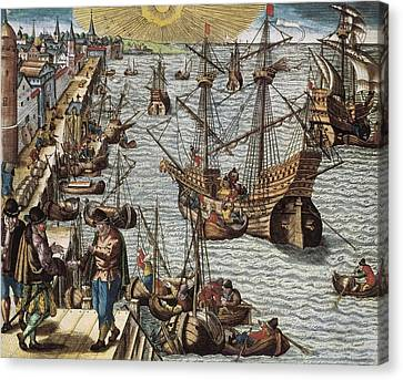 Portugal 16th C.. Departure Canvas Print by Everett