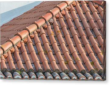 Red Roof Canvas Print - Portugal, Lisbon, Red Tile Roof by Jim Engelbrecht