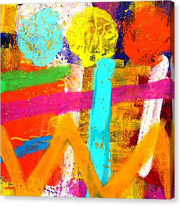 Abstract Expressionism Canvas Print - Portuguese Palimpsest by John  Nolan
