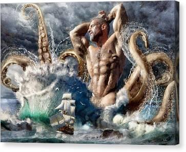 Marcin Canvas Print - Poseidon Awakens by Marcin and Dawid Witukiewicz
