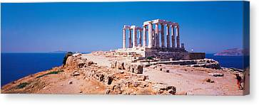 Poseidon Cape Sounion Greece Canvas Print by Panoramic Images