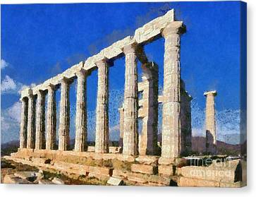 Poseidon Temple Canvas Print by George Atsametakis