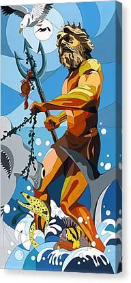 Poseidon - W/hidden Pictures Canvas Print by Konni Jensen