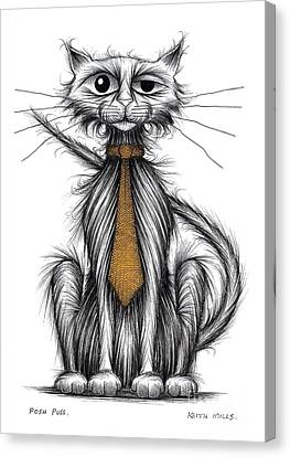 Posh Puss Canvas Print
