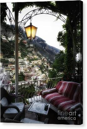 Positano Evening Canvas Print by George Oze