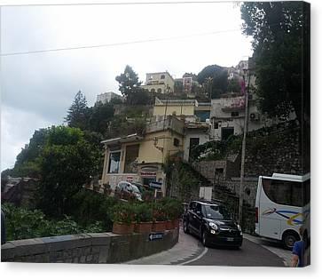 Positano Italy I Canvas Print by Shesh Tantry
