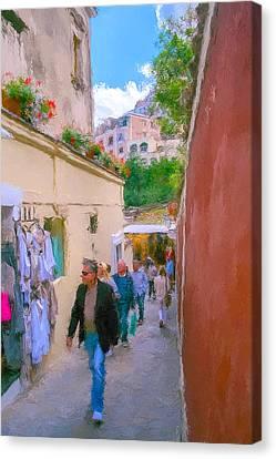 Positano Canvas Print by SM Shahrokni