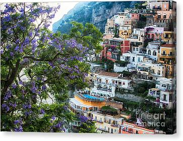 Positano Summer View Canvas Print by George Oze
