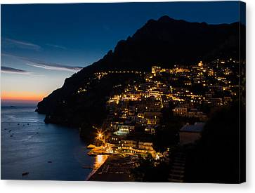 Canvas Print featuring the photograph Positano Sunset by Carl Amoth