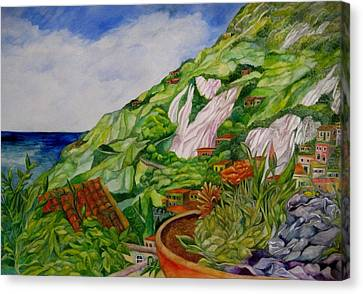 Positano Terrace Canvas Print