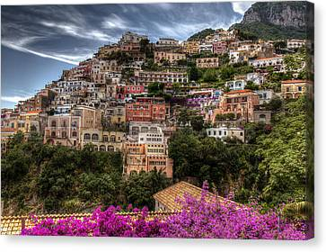 Canvas Print featuring the photograph Positano by Uri Baruch