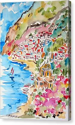 Positano Water Color Canvas Print
