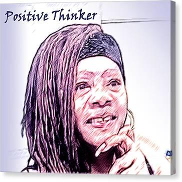 Positive Thinker Pastel Canvas Print by Jacqueline Lloyd