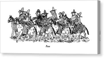 Posse Canvas Print - Posse by William Steig