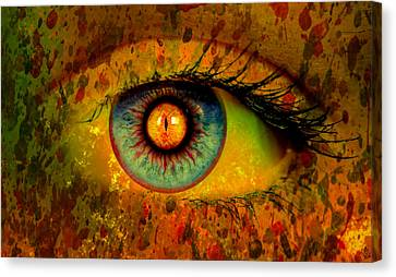 Possessed Canvas Print by Ally  White