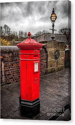 Post Box Canvas Print by Adrian Evans