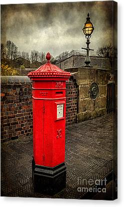 Post Box V2 Canvas Print by Adrian Evans