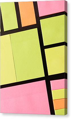 Sticky Note Canvas Print - Post-it Notes by Tom Gowanlock