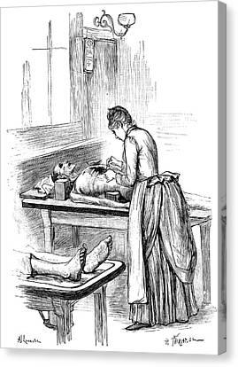 Post-mortem Examination, 1890 Canvas Print