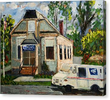 Post Office At Lafeyette Nj Canvas Print by Michael Daniels