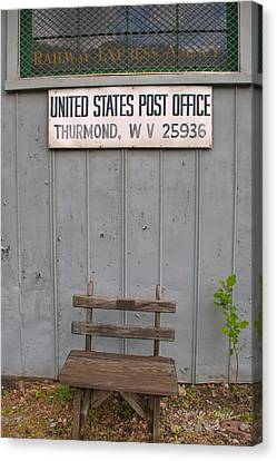 Post Office Bench Canvas Print by Paulette B Wright