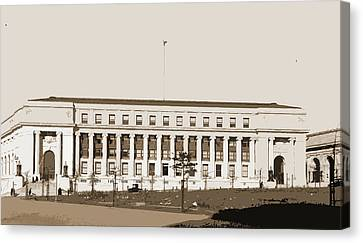 Post Office, Washington, D.c, Post Offices Canvas Print by Litz Collection