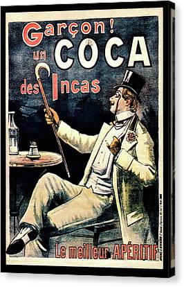 Postcard Advertising Coca Des Incas Canvas Print by National Library Of Medicine