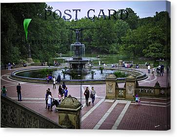 Postcard From Central Park Canvas Print by Madeline Ellis