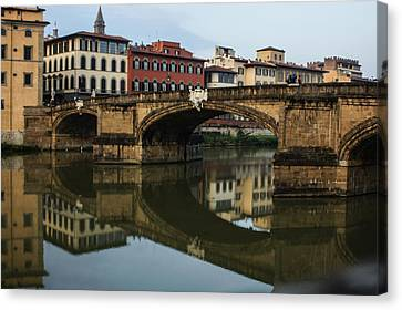 Canvas Print featuring the photograph Postcard From Florence  by Georgia Mizuleva