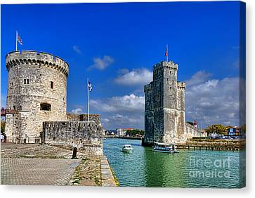 Postcard From La Rochelle Canvas Print by Olivier Le Queinec