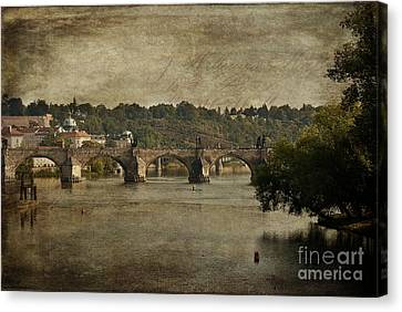 Postcard From Prague Canvas Print by Ivy Ho