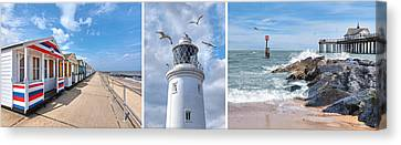 Postcard From Southwold Canvas Print by Gill Billington