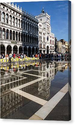 Canvas Print featuring the photograph Postcard From Venice by Georgia Mizuleva