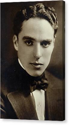 Postcard Of Charlie Chaplin Canvas Print by American Photographer