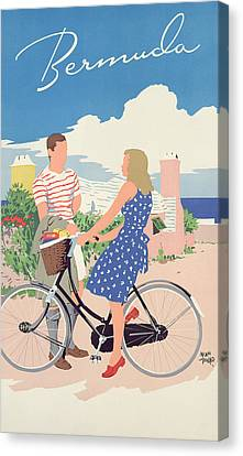 Jet Set Canvas Print - Poster Advertising Bermuda by Adolph Treidler