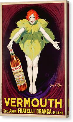 Poster Advertising Fratelli Branca Vermouth Canvas Print by Jean DYlen